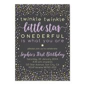 Baby Showers Twinkle Twinkle Little Star | First Birthday Invitation