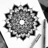 "Borimira M. 🌙 on Instagram: ""Done ♡ • • #heymandalas #blxck #new #art #illustration #white #paper #blxckmandalas #blackpen #ink #blackworkers #blxckink #mandalasworld…"""