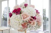 Wunderbare Blumenkomposition aus Gypsophila, Rosen und Hortensien … – Hochzei …   – Brautstrauß