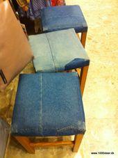 Stuhlüberzug – Recycling alter Jeans
