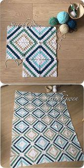 Cedar River Blanket: Crochet Corner2Corner