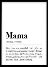 Geschenk Mama (Plakat DIN A3/DIN A4)