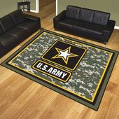 FANMATS U.S. Army Gray/Yellow Area Rug – army