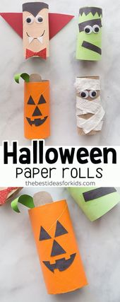 Halloween toilet paper roll crafts
