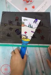 """LOVE this idea! How cute is this? Make a """"flashlight"""" for your kids to do some u…"""