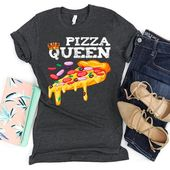 Pizza Queen Shirt / Pizza Liebhaber / Pizza T-Shirt / Pizza Geburtstag / Pizza Shirt / Pizza Liebe / lustige Pizza Shirt / Pizza Party / Pizza Liebe