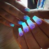 Neonfarben phosphoreszierendes fluoreszierendes Pulver im Dunkeln leuchten Nail Art Acryl – …