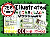 Phrase Wall Vocabulary Posters for WORLD HISTORY Models HIGH SCHOOL 285 WORDS