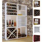 Weinregal Lucan T323, Flaschenregal Regal für 20 Flaschen, 94x48x31cm, Shabby-Look, Vintage ' weiß M