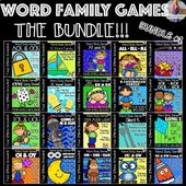 Word Family Games BUNDLE #1! [[700+ pages]] – Language Arts Love!