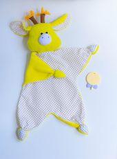 Baby Tröster / Soft Giraffe / Plushie Giraffe / Neugeborenes Spielzeug / neues Baby Geschenk / Spielzeug für den Schlaf / Baby erste Spielzeug / Stofftier / Neugeborenes Spielzeug   – Sewing Projects
