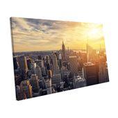 Mercury Row Leinwandbild Sunset New York City   Wayfair.de