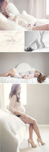 Baby Bump Poses like this would work really well in your bedroom, do you have a white beds...