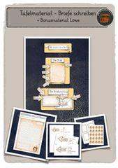 Tafelmaterial – Briefe schreiben + Bonusmaterial Löwe – Unterrichtsmaterial im Fach Deutsch