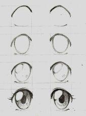 Wie man die Augen von MANGÁ / ANIME zeichnet #des…