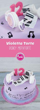 Sehr süße Disney Motiv Torte! Violetta-Kuchen. Ist toll für ein Geschäft … … – Einfach Torten Rezepte