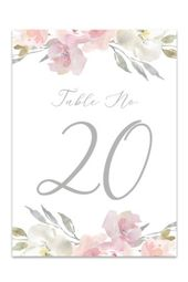 Table Numbers – Free Printable Table Number Templates