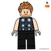 Wie zeichnet man Thor Lego Drawing – Art Drawing für Kinder   – Stuff for my Twinnies