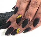 Top 100 Majestic Black Nail Art Trendy Ideas #black_nails #nail_art_designs #win…
