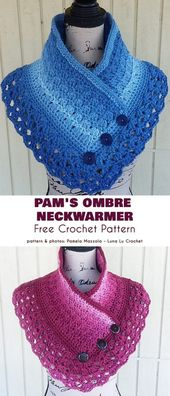 Lace Neck Warmer and Cowl Free Crochet Patterns