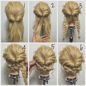 Cheveux juste updo