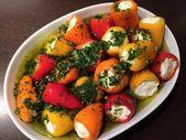 eingelegte Mini Paprika – Rezept – Fetakäse Rezepte