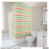 Summer Stripes Duschvorhang | Zazzle   – Bathroom Decor