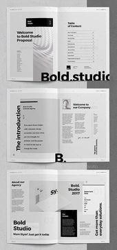 Plantilla de folleto / presupuesto de 32 páginas (InDesign) #offer #br …   – Design