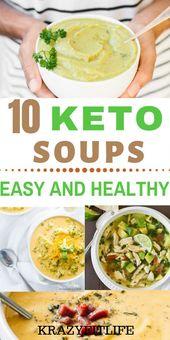 10 deliciosas recetas de sopa Keto bajas en carbohidratos para que disfrutes en la dieta keto. Estas…
