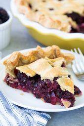 Das beste Rezept für Brombeerkuchen mit frischen Brombeeren oder gefrorenen Brombeeren! … – Fruit pies
