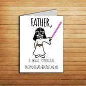 Star Wars Geburtstagskarte für Papa Geschenk von Tochter VATER, ICH BIN IHRE TO