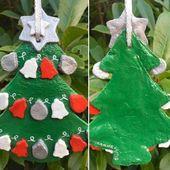 Salzteig weiße Christbaumkugel mit blauen, Aqua und roten Kugeln – Hochzeit Geburtstag Weihnachten besonderen Anlass – einzigartige Handarbeit