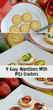4 Easy Appetizers With Ritz Crackers