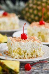 Dieser Pina Colada Poke-Kuchen ist Ihr Lieblingscocktail von Pina Colada in … – let me eat cake