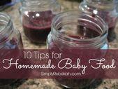 10 conseils pour préparer des aliments pour bébé   – Living with the little ones
