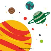 Cartoon Hand Painted Space Planet Cute Saturn Clipart Cartoon Hand Painted Png And Vector With Transparent Background For Free Download Free Graphic Design Space Planets Planets