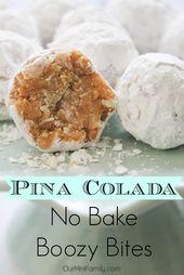 Pina Colada No Bake Boozy Bites – food ideas & recipes