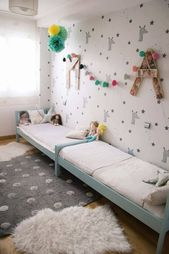 Geteilte Kinderzimmer: Mehrere Betten aufteilen   – boys room
