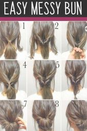 Easy Messy Bun Hairstyles and More GORGEOUS wedding hairstyle ideas
