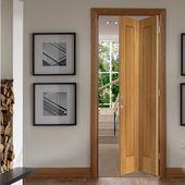 Suffolk Oak Bifold Door Vertical Lining Oak Bifold Doors Folding Doors Room Divider Doors