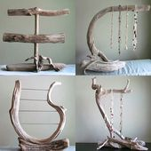 Driftwood 2 Tiered Bracelet Display, Bracelet Organizer, Photography Prop, Boutique Display, Jewelry Display, Boutique Piece, Driftwood Art