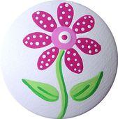 Pink Flower Hand Painted Decorative Wood Dresser Furniture Girls Kids Kindergart …