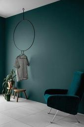 Wall paint Petrol – 56 ideas for more color in the interior