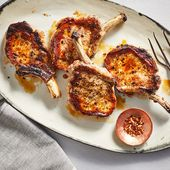 Grilled Bone-In Pork Chops #grilledporkchops Juicy grilled pork chops with a tin…