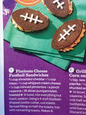 Pimento Cheese Football Sandwiches – aber vielleicht ohne Pimento Cheese Yuck.