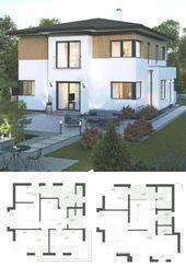 Stadtvilla im modernen Landhausstil mit Holzfassade, Erkererweiterung & … – #e …   – Anbau Landhausstil