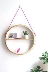 DIY Round Hanging Shelf
