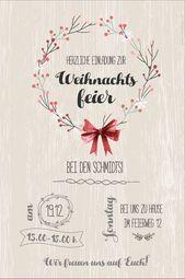 Invitations  Einladung zur Weihnachtsfeier. Personalisiert und inidviduell. Zum selber Ausdru...