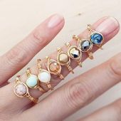 Dainty Stacking Rings Einfache Gold Tone Rings Edelstein