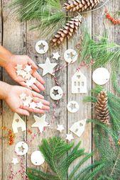 Homemade Salt Dough & Air Dry Clay Ornaments (3 Ways!)